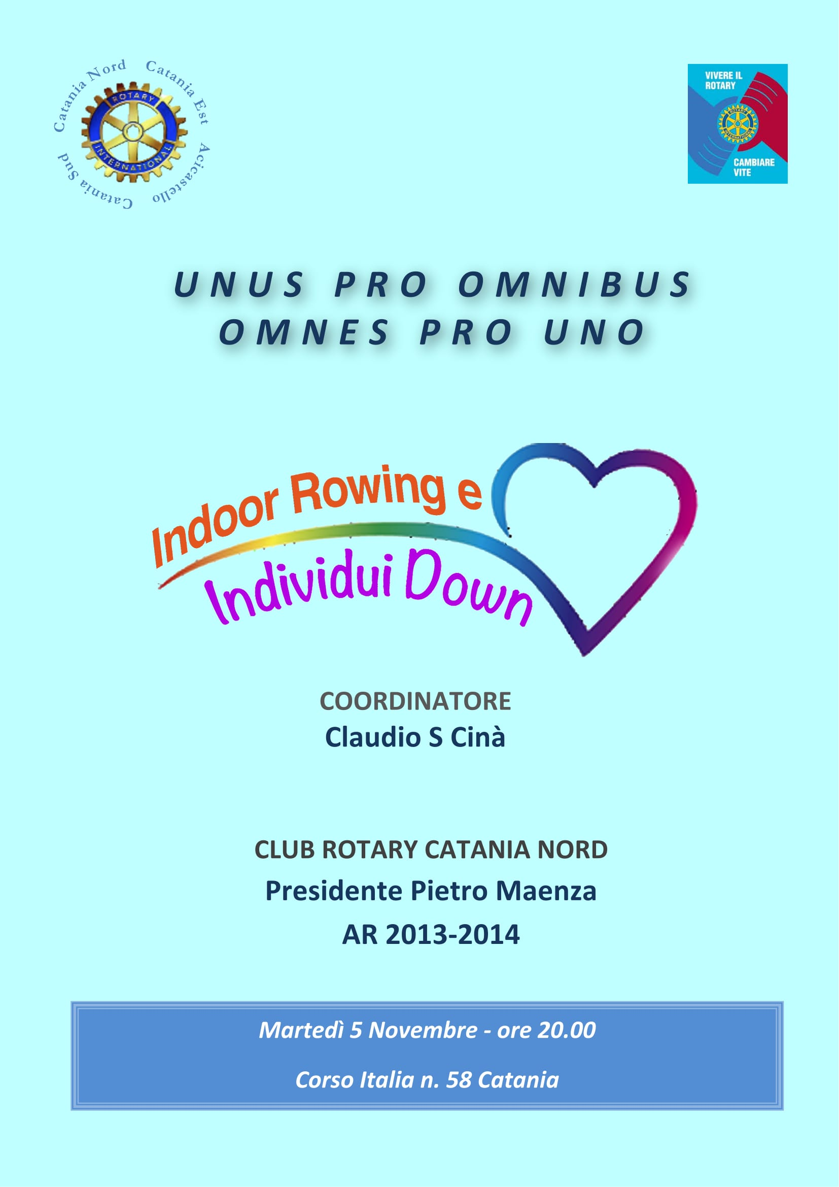 2013 11 5 locandina Indoor Rowing e individui down