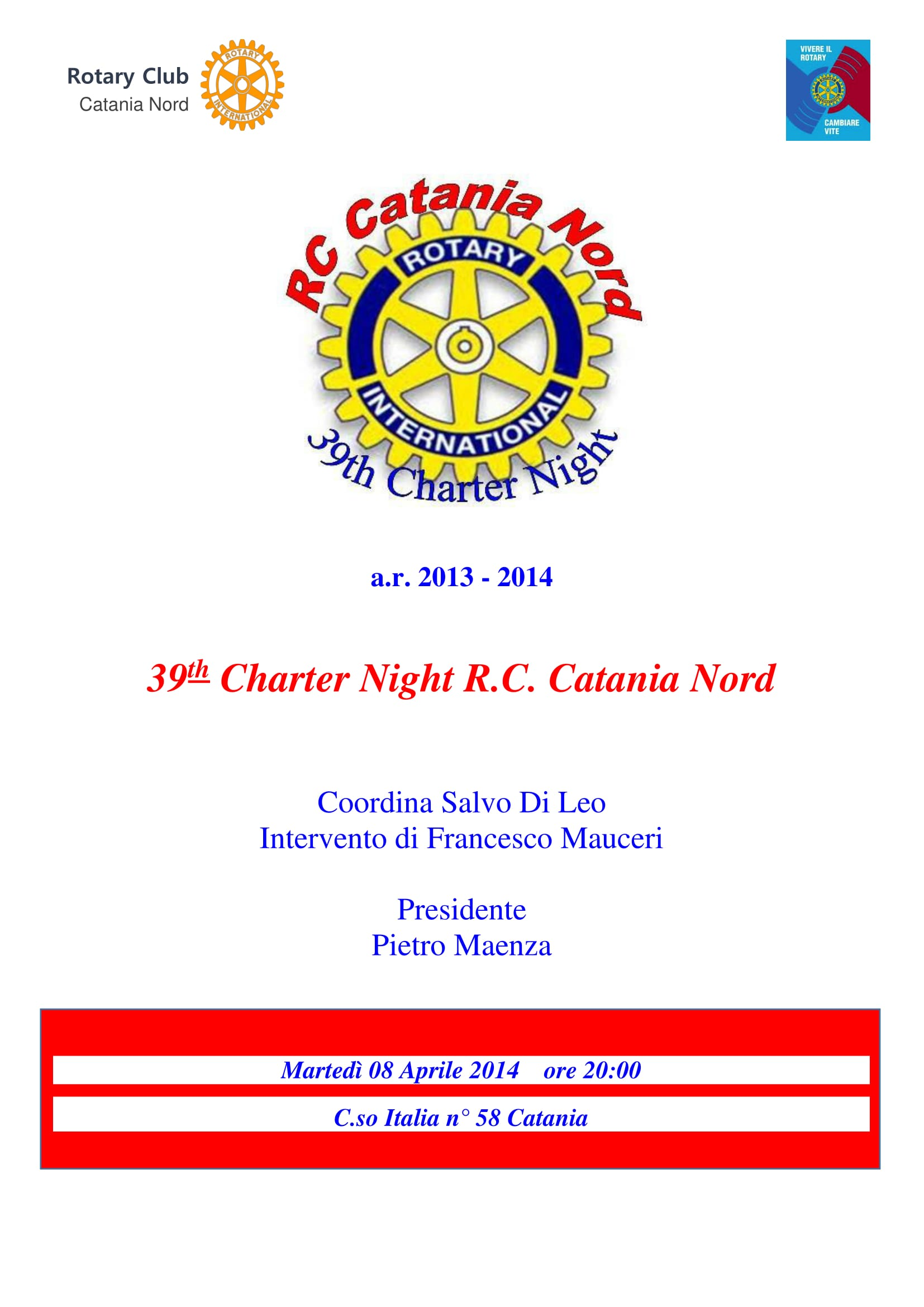 2014 04 08 locandina 39th Charter Night