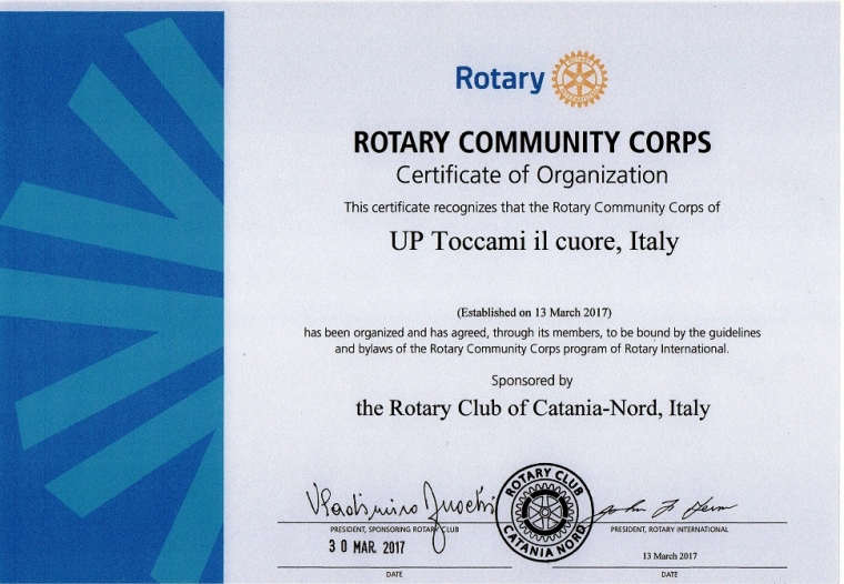 "GROC (Rotary Community Corps) ""UP toccami il cuore"""
